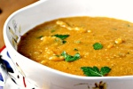 Суп из красной чечевицы с курагой
