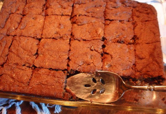 Тыквенное пирожное с шоколадом