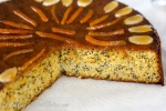 Апельсиново-медово-миндальный кекс с маком