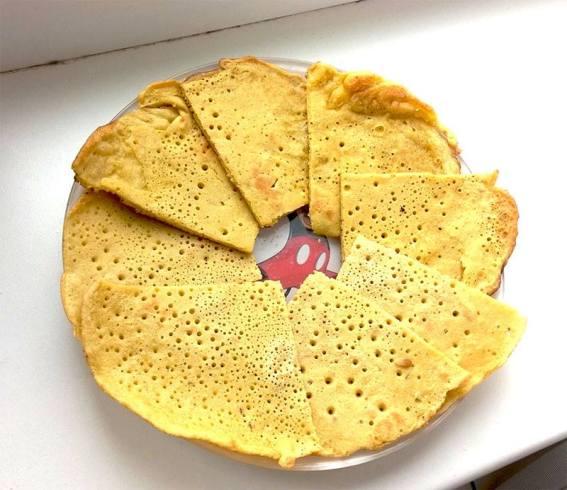 Лепешки заварные на горячей воде, фото от читательницы Татьяны