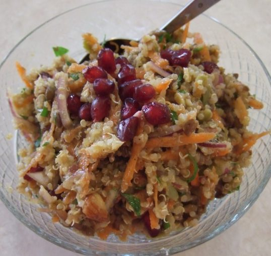 Spiced Moroccan quinoa tabouleh