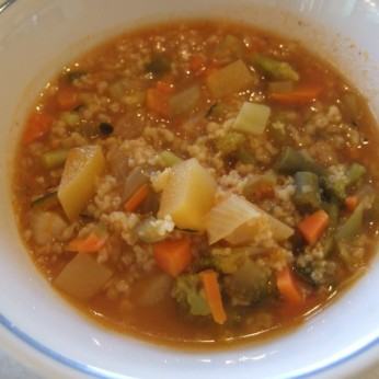 Тосканский овощной суп с крупой киноа