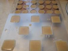 В формочке для изготовления конфет