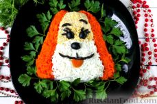 "Слоеный салат ""Собачка"""